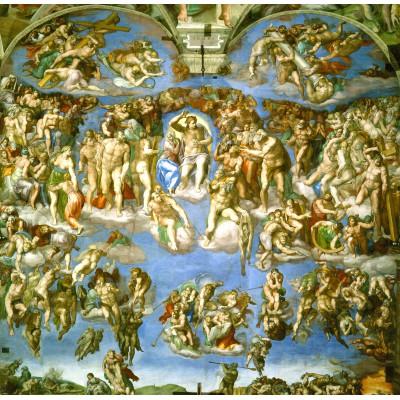 Puzzle Grafika-00725 Michelangelo: Das jüngste Gericht