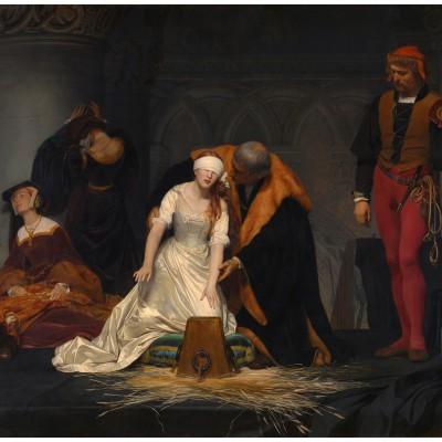 Puzzle  Grafika-00752 Paul Delaroche: Die Hinrichtung der Lady Jane Grey, 1833