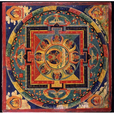 Puzzle Grafika-00753 Tibetische Schule - Amitabha-Mandala