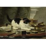 Puzzle  Grafika-00754 Henriette Ronner-Knip: Spielende Katze