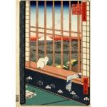 Puzzle  Grafika-00756 Hiroshige Utagawa: Asakusas Reisfelder und Torinomachi-Fest, 1857