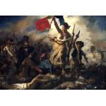 Puzzle  Grafika-00773 Eugène Delacroix: Die Freiheit führt das Volk, 1830