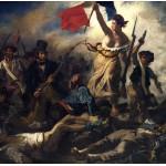 Puzzle  Grafika-00775 Eugène Delacroix: Die Freiheit führt das Volk, 1830