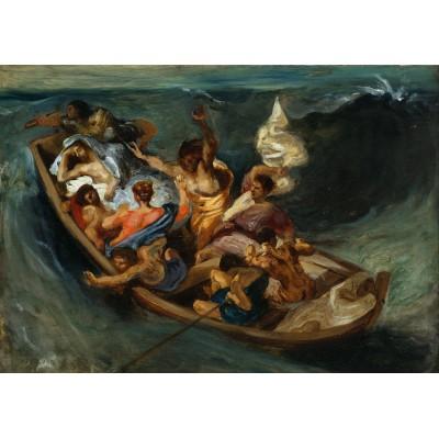 Puzzle  Grafika-00778 Eugène Delacroix: Christus im Sturm auf dem Meer, 1841