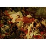 Puzzle  Grafika-00782 Eugène Delacroix: Der Tod des Sardanapal, 1827