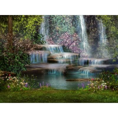 Puzzle  Grafika-00794 Bezaubernder Wasserfall