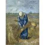 Puzzle  Grafika-00849 Vincent van Gogh: Bäuerin beim Strohschneiden (nach Millet)