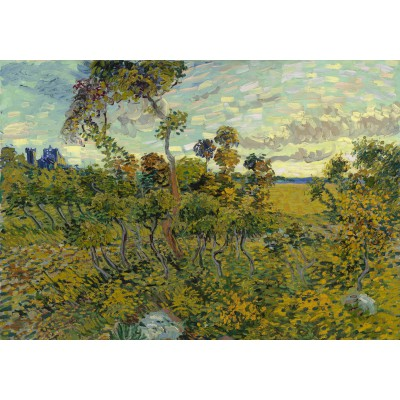 Puzzle  Grafika-00868 Van Gogh: Sunset at Montmajour, 1888