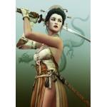 Puzzle  Grafika-00980 Weibliche Samurai