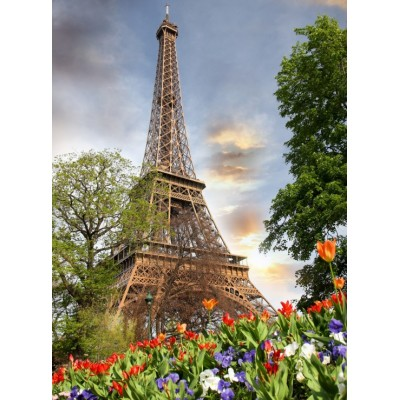 Puzzle  Grafika-01017 Eiffelturm, Frankreich