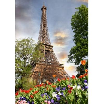 Puzzle  Grafika-01025 Eiffelturm, Frankreich