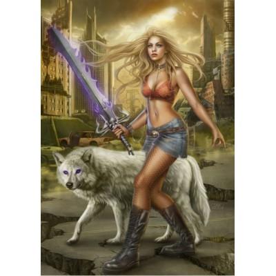 Puzzle  Grafika-01074 The Wolf's Sword