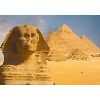 Puzzle Grafika-01080 Sphinx und Pyramiden von Gizeh