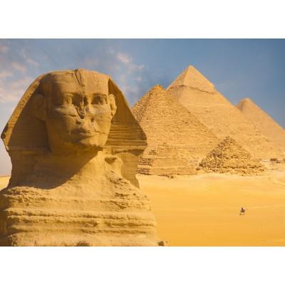 Puzzle  Grafika-01091 Sphinx und Pyramiden von Gizeh