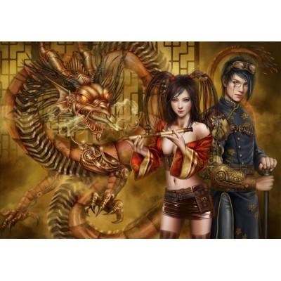 Puzzle  Grafika-01101 Chasing the Dragon