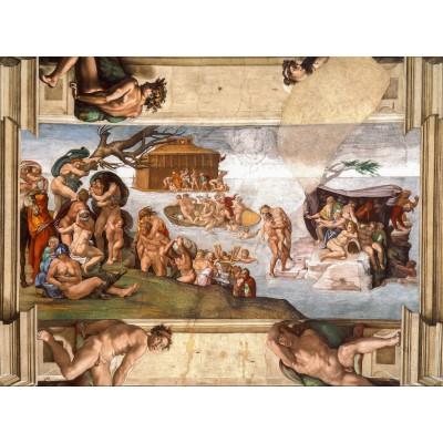 Puzzle  Grafika-01115 Michelangelo: Sixtinische Kapelle (Detail), 1509