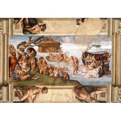 Puzzle  Grafika-01116 Michelangelo: Sixtinische Kapelle (Detail), 1509