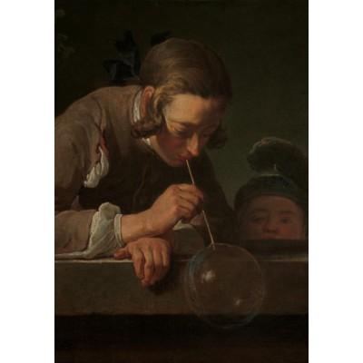 Puzzle  Grafika-01123 Jean Siméon Chardin - Seifenbläser, 1739