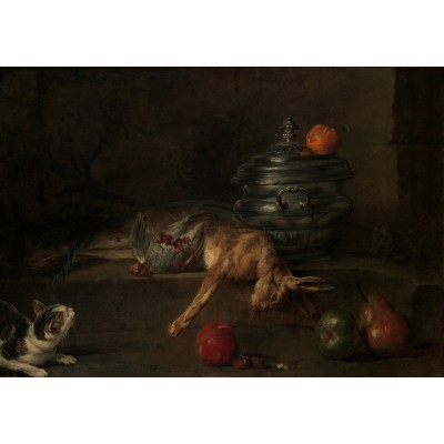 Puzzle  Grafika-01124 Jean Siméon Chardin - The Silver Terrine, 1728-30
