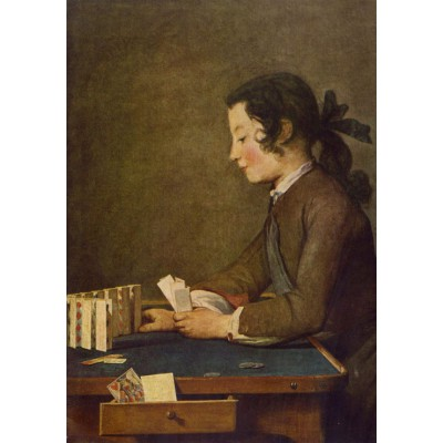 Puzzle  Grafika-01125 Jean Siméon Chardin - The House of Cards, 1737