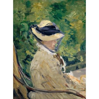 Puzzle  Grafika-01128 Edouard Manet - Frau Manet, 1880