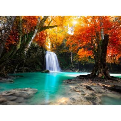 Puzzle Grafika-01140 Deep Forest Waterfall