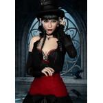 Puzzle  Grafika-01152 Gothic: Frau mit Rabe