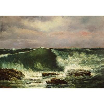 Puzzle  Grafika-01157 Gustave Courbet: Die Welle, 1870