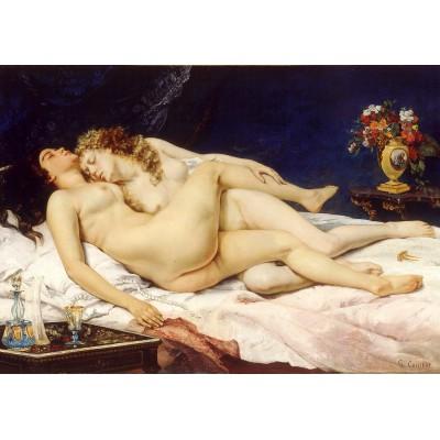 Puzzle  Grafika-01159 Gustave Courbet: Der Schlaf, 1866