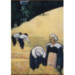 Puzzle  Grafika-01162 Emile Bernard: La Moisson, 1888