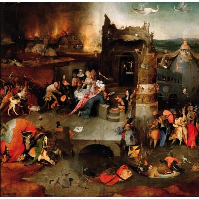 Puzzle  Grafika-01165 Bosch: Die Versuchungen des heiligen Antonius, 1495-1515