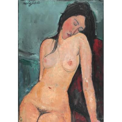Puzzle  Grafika-01180 Amedeo Modigliani: Sitzender weiblicher Akt, 1916