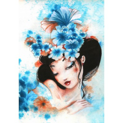 Puzzle  Grafika-01322 Misstigri: Blue Flowers