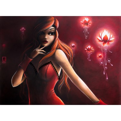 Puzzle  Grafika-01331 Misstigri: Red Light Flower