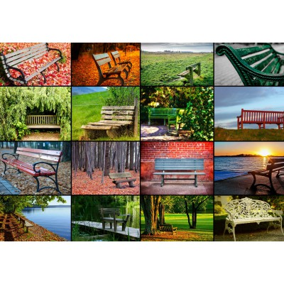 Puzzle  Grafika-01371 Collage - Bänke