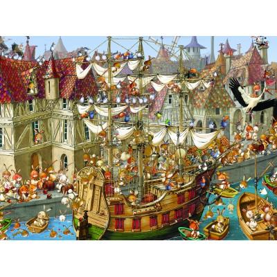 Puzzle  Grafika-01458 François Ruyer: Kaninchen!