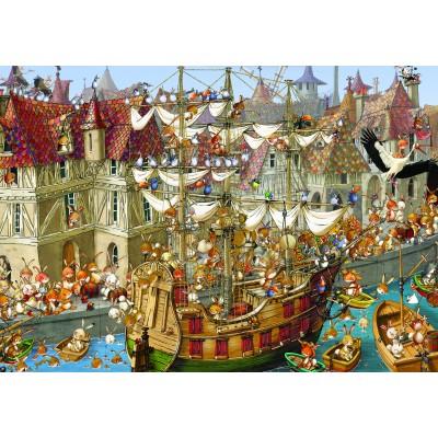 Puzzle Grafika-01459 François Ruyer: Kaninchen!