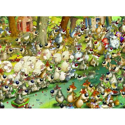 Puzzle Grafika-01462 François Ruyer: Wölfe!