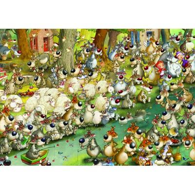 Puzzle  Grafika-01463 François Ruyer: Wölfe!