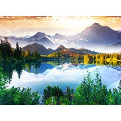 Puzzle  Grafika-01466 Fluss im Gebirge