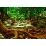 Puzzle  Grafika-01468 Wasserfall im Wald
