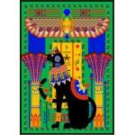 Puzzle  Grafika-01493 Ägyptische Katze