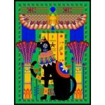Puzzle  Grafika-01494 Ägyptische Katze