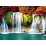 Puzzle  Grafika-01503 Wasserfall im Wald