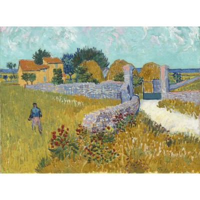 Puzzle  Grafika-01511 Vincent Van Gogh - Farmhouse in Provence, 1888