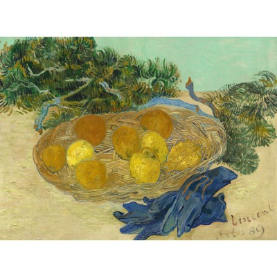 Puzzle  Grafika-01516 Vincent Van Gogh - Still Life of Oranges and Lemons with Blue Gloves, 1889