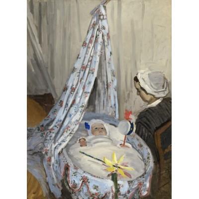 Puzzle  Grafika-01530 Claude Monet - Die Wiege, Camille mit dem Sohn des Künstlers Jean, 1867
