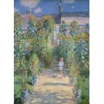 Puzzle  Grafika-01532 Claude Monet - Garten des Künstlers in Vétheuil, 1880