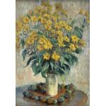 Puzzle  Grafika-01536 Claude Monet - Jerusalem Artischocke Blumen, 1880
