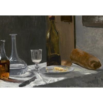 Puzzle  Grafika-01540 Claude Monet - Stillleben mit Flaschen, 1863